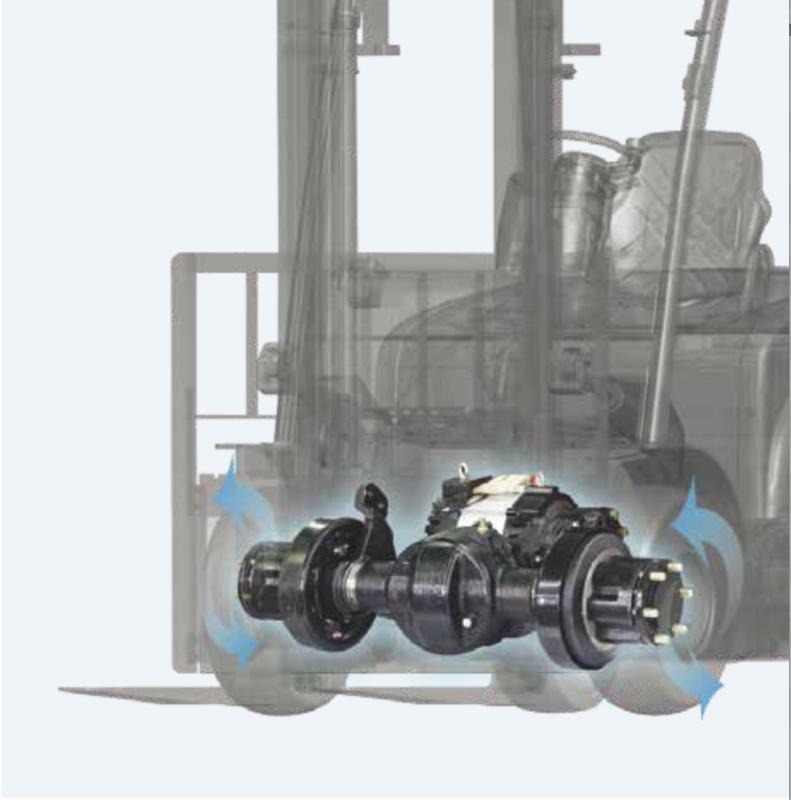 Bố trí cầu và ắc quy cho xeng nâng điện Hangcha