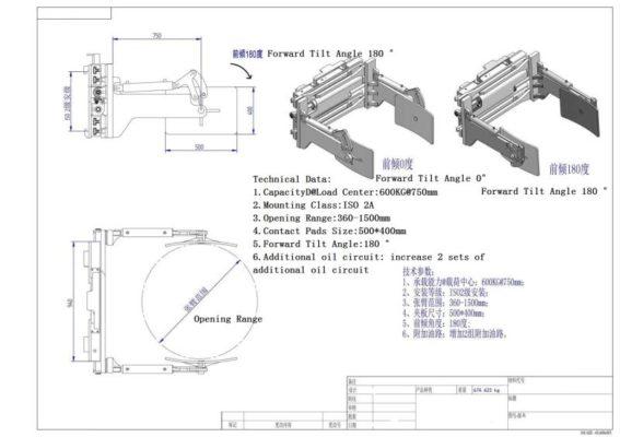 Sơ đầu cấu tạo kẹp thùng phi 1