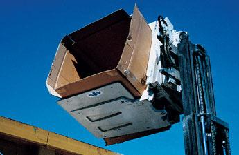 Xe nâng kẹp thùng carton có chế độ lật đổ