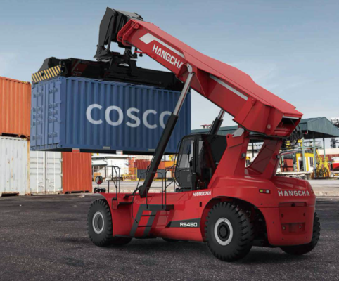 Xe nâng gắp container 45 tấn 1